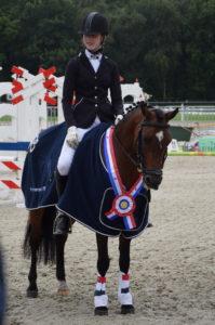 Thura de Boer en haar pony Oak Forest Felice
